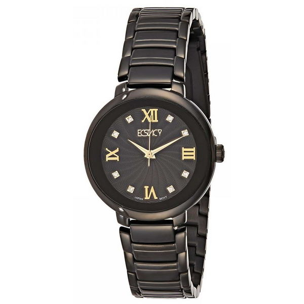 Ecstacy Women s Stainless Steel Band Watch E8503-BBBBG