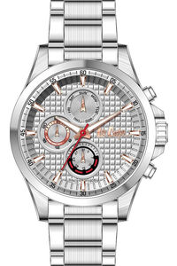 Men's Super Metal Band Watch -LC06661, silver, silver, silver