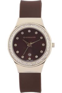Giordano Women's Watch Analog Display-2909-03, brown, brown