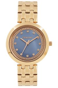 Women's Stainless Steel Band Watch - 2821, rose gold, mop blue, rose gold
