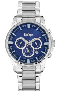 Men's Super Metal Band Watch -LC06445, blue, silver, silver