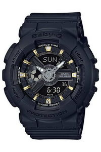 G-shock Women's Resin Band Watch BA-110GA-1A, black, black, black