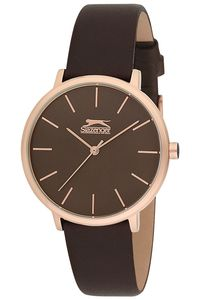 Women's Leather Band Watch - SL. 9.6058, black, silver, black