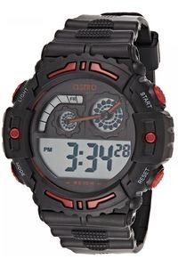 Astro Kids Black Plastic Watch - A8907-PPBBR, black, black/red, black