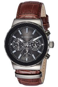 Giordano Men's Watch Multi Function Display- 1779-02, brown, grey