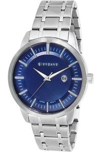 Giordano Men's Watch Analog Display- 1947-22, silver, blue
