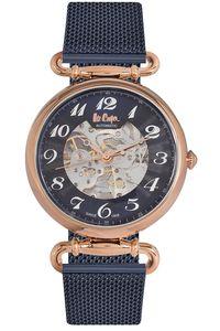 Men's Super Metal Band Watch -LC06372, black, rose gold, blue