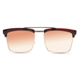 JRS FIRST S15C4577 Brown Tinted Square Sunglasses
