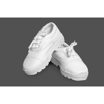 S. Boy White Cnvs Shoes, aug-26
