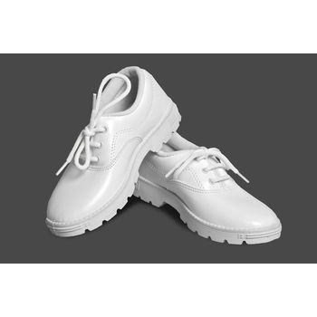 S. Boy White Synt Shoes, jan-33