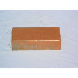 10 X 5 RUBBER MOULD GLOSSY PAVING BLOCK (60MM THICKNESS), orange