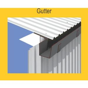 TATA DURASHINE STANDARD ACCESSORIES - GUTTER 3050MM (10 FEET) X THICKNESS 0.45MM, satin silver