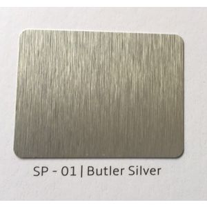 ALUDECOR ACP PANELS (SHEET SIZE 8 ft x 4 ft) - BUTLER SILVER(SP01)