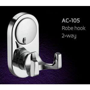 ESSESS: BATHROOM ACCESSORIES CROMA SERIES - AC105 ROBE HOOK 2-WAY