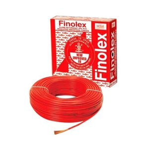 FINOLEX HOUSE WIRE - 100 MTR BUNDLE, 1.0 sqmm, black