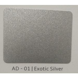 ALUDECOR ACP PANELS (SHEET SIZE 8 ft x 4 ft) - EXOTIC SILVER (AD01), grade al33