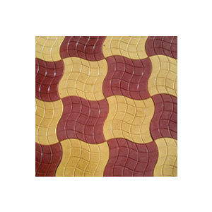 12X12 GLOSSY CHEQUERED TILE (25MM THICKNESS) - WAVES