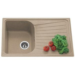 NIRALI QUARTZ RANGE: SPAZIO LV1- (SINGLE BOWL), beige granite