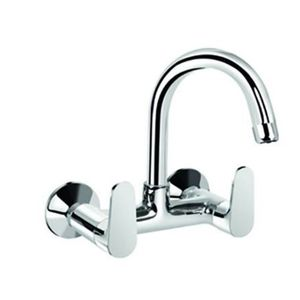 KEROVIT HYDRUS SERIES - KB411024CP SINK MIXER WITH SWIVEL SPOUT WALL MOUNTED