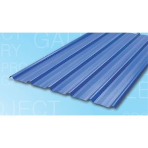 TATA DURASHINE COLOUR COATED STEEL SHEETS: -NUVO BLUE - THICKNESS 0.47MM x WIDTH 1072MM (3.5FEET), 8feet 2440mm