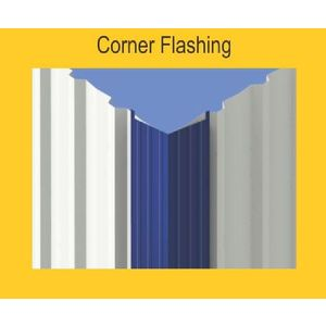 TATA DURASHINE STANDARD ACCESSORIES - CORNER FLASHING 3050MM (10 FEET) X THICKNESS 0.45MM, castle red