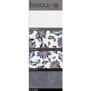 LEXUS 300 X 600 DIGITAL GLOSSY WALL TILES - 6210, light