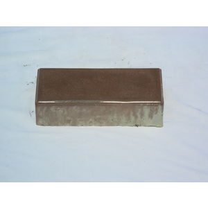 10 X 10 RUBBER MOULD GLOSSY PAVING BLOCK (60MM THICKNESS), brown