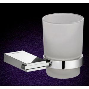 ESSESS: BATHROOM ACCESSORIES CRUZO SERIES - AC604 TUMBLER HOLDER WITH GLASS TUMBLER