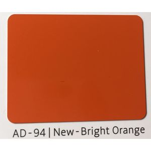 ALUDECOR ACP PANELS (SHEET SIZE 8 ft x 4 ft) - NEW BRIGHT ORANGE(AD94), grade al43