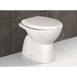 EAGLE CONCEALED COMMODE - MEGA (S TRAP),  white