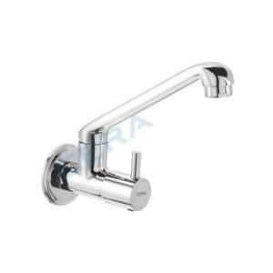 CERA GARNET SERIES - F2002261 SINK COCK (WALL MOUNTED) WITH SWIVEL SPOUT AND WALL FLANGE