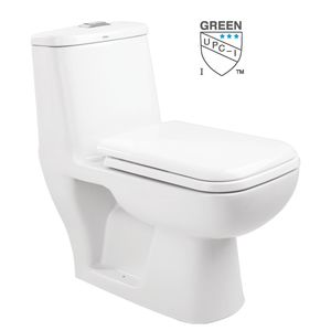 CERA S1012110 - CAMPBELL One Piece EWC S Concealed Soft Close Seat Cover 2399 & Twin Flush Fittings 3441,  ivory