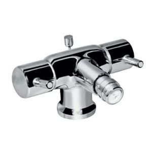 JAQUAR FLORENTINE SERIES QUARTER TURN - FLR-5613NB 1 HOLE BIDET MIXER WITH POPUP WASTE SYSTEM WITH 375MM LONG BRAIDED HOSES