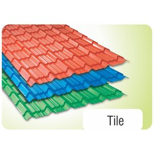 TATA DURASHINE TILE: - BRIGHT GREEN - THICKNESS 0.45MM x WIDTH 1090MM (3.6FEET), 12feet 3660mm