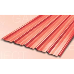 TATA DURASHINE COLOUR COATED STEEL SHEETS: -CASTLE RED - THICKNESS 0.47MM x WIDTH 1072MM (3.5FEET), 22feet6705mm