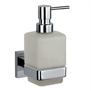 JAQUAR BATH ACCESSORIES KUBIX PRIME SERIES - AKP-35735P SOAP DISPENSER WITH GLASS BOTTLE