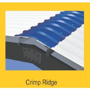 TATA DURASHINE STANDARD ACCESSORIES - CRIMP CURVED RIDGE 600MM X THICKNESS 0.45MM, nuvo blue