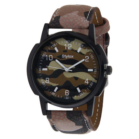 Stylox Classic Green Dial Watch-WH-STX142