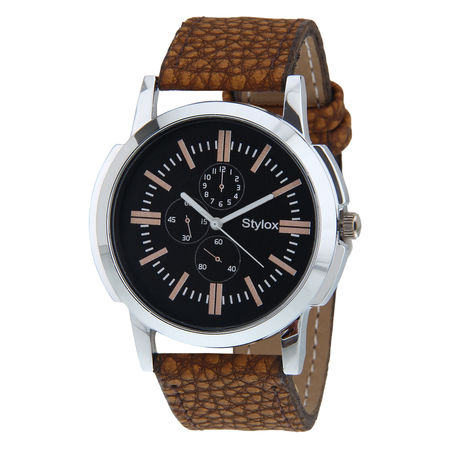 Stylox stylish Black Dial Formal Watch For Men-WH-STX143