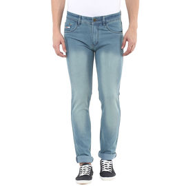 Stylox Mens Green Shaded Slim Fit Jeans, 34