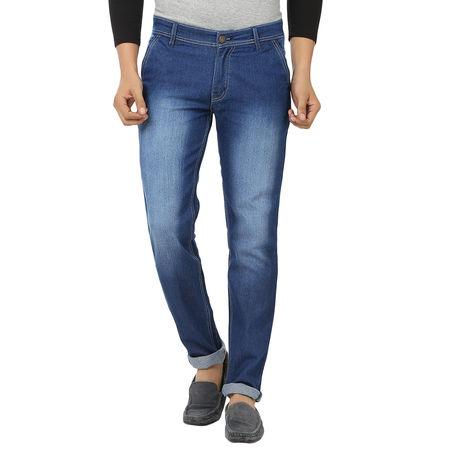 Stylox Dark Blue Shaded Jeans For Men, 32