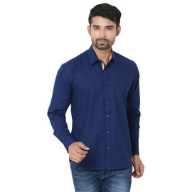 Stylox Stylish Blue Slim Fit Casual Shirt, xxl