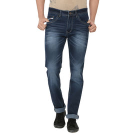 Stylox Dark Blue Cotton Jeans For Men, 28