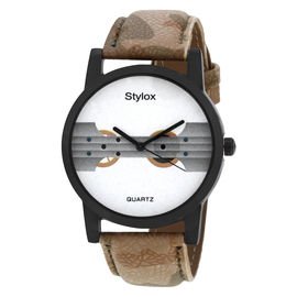 Stylox White Round Dial Stylish Watch