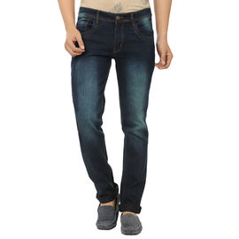 Stylox Stylish Green Shaded Jeans For Men, 34