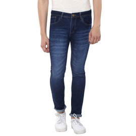 Stylox Mens Dark Blue Skinny Fit Jeans, 30