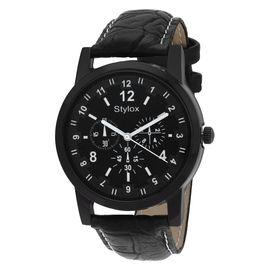 Stylox Black Round Dial Stylish Watch