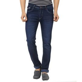Stylox Stylish Dark Blue Jeans For Men, 28