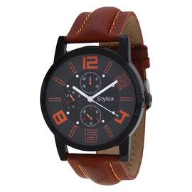 Stylox Dark Blue Round Dial Stylish Watch