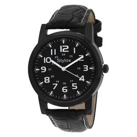 Stylox Black Round Dial Stylish Watch